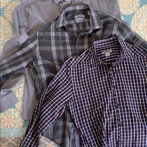 Bundle - DKNY men's dress shirts, medium (3)